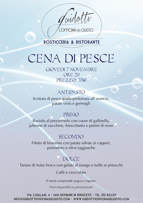 Guidotti Officina Del Gusto Cena Di Pesce